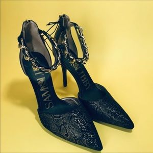 Sam & Libby Gold flakes pumps